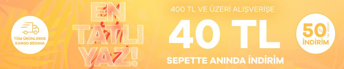 Emsan Online Özel 400 TL ve Üzerine 40 TL İndirim Kampanyası