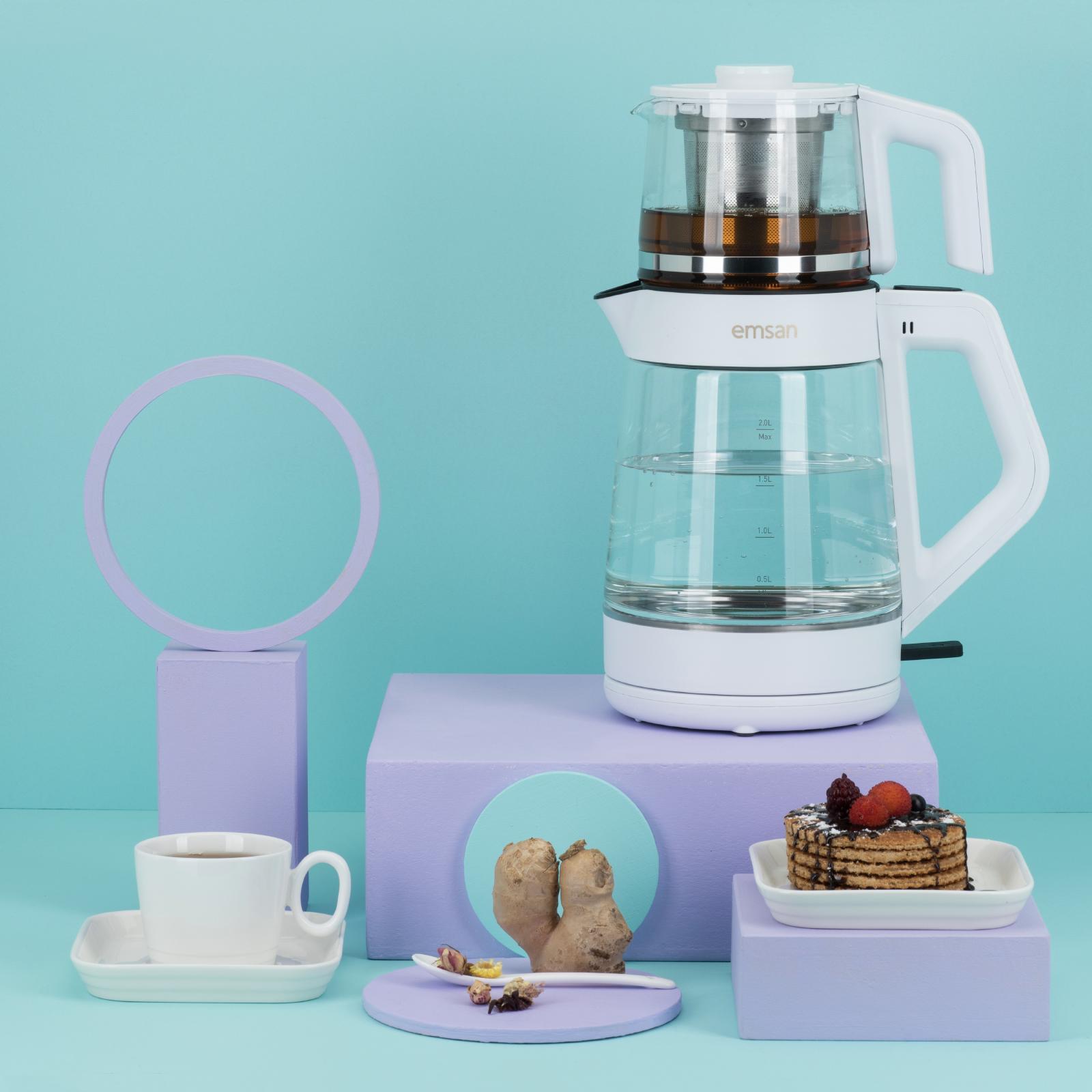 Emsan Magic Master Çay Makinesi Beyaz