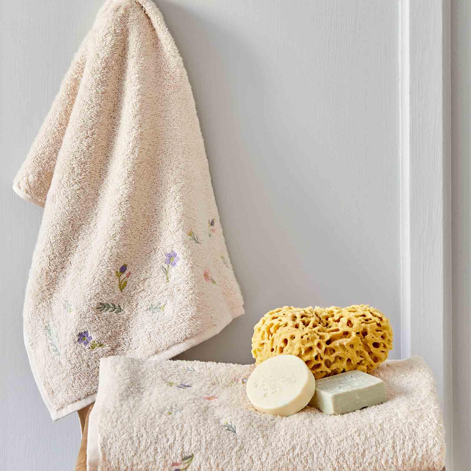 Karaca Home Levin Bej Nakışlı 2li Havlu Seti