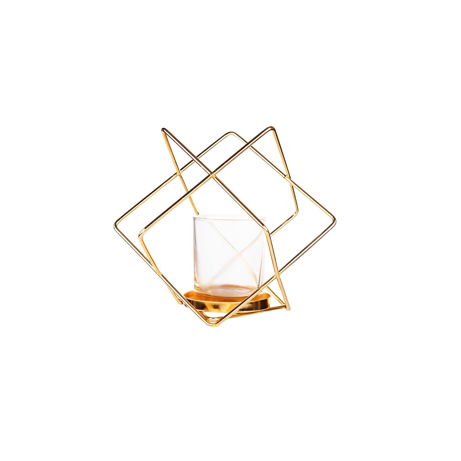 Karaca Home Geometrik Mumluk Gold 20 cm