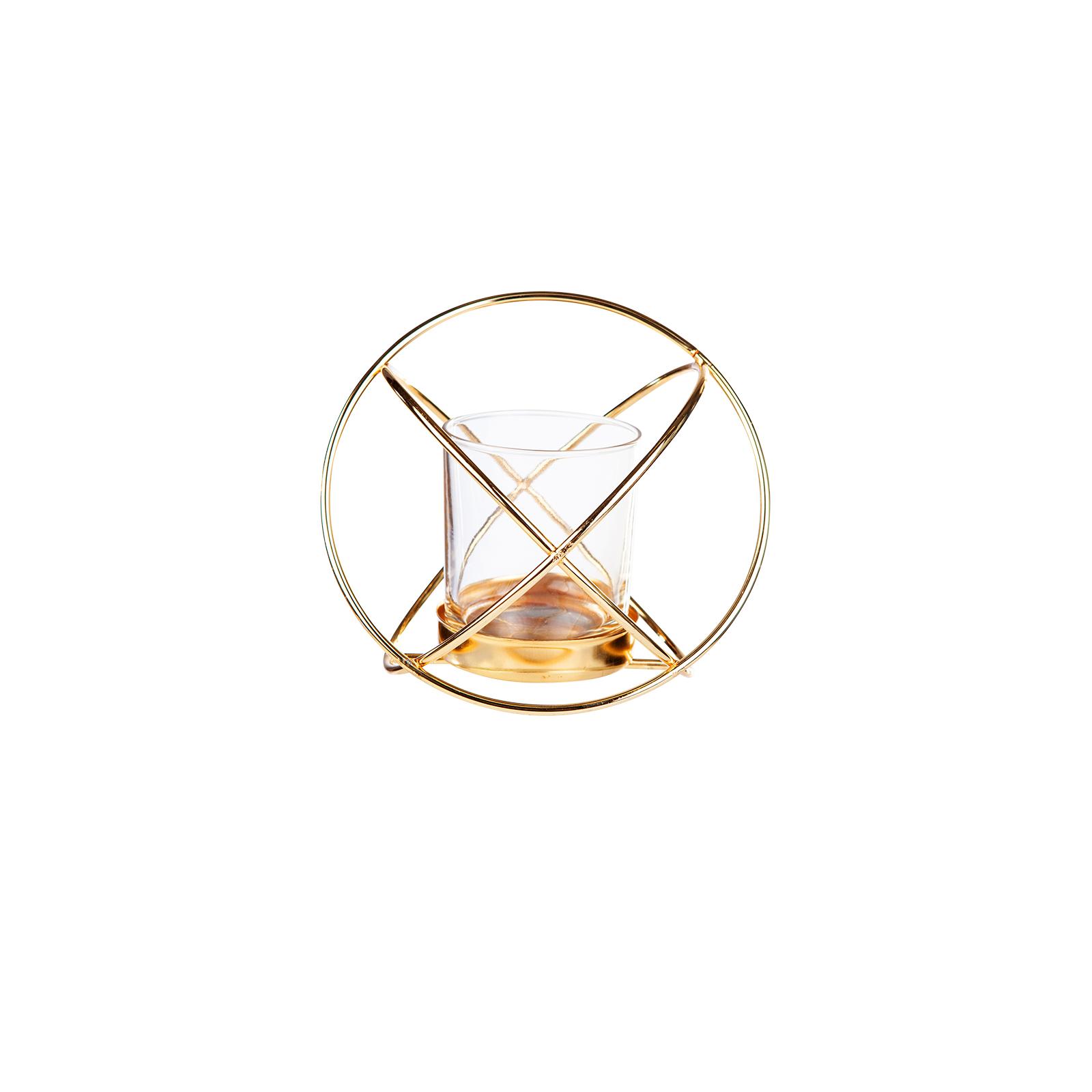 Karaca Home Geometri Yuvarlak Mumluk Gold 12 cm