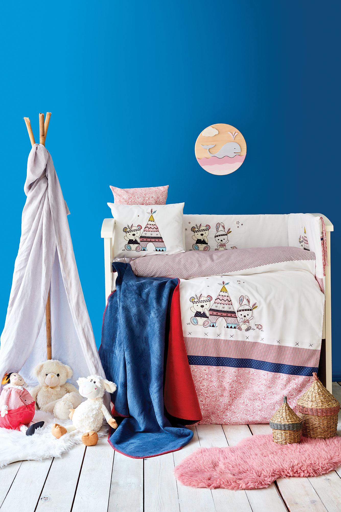 Karaca Home Tent Aplike /Nakış 13 Parça Bebek Seti