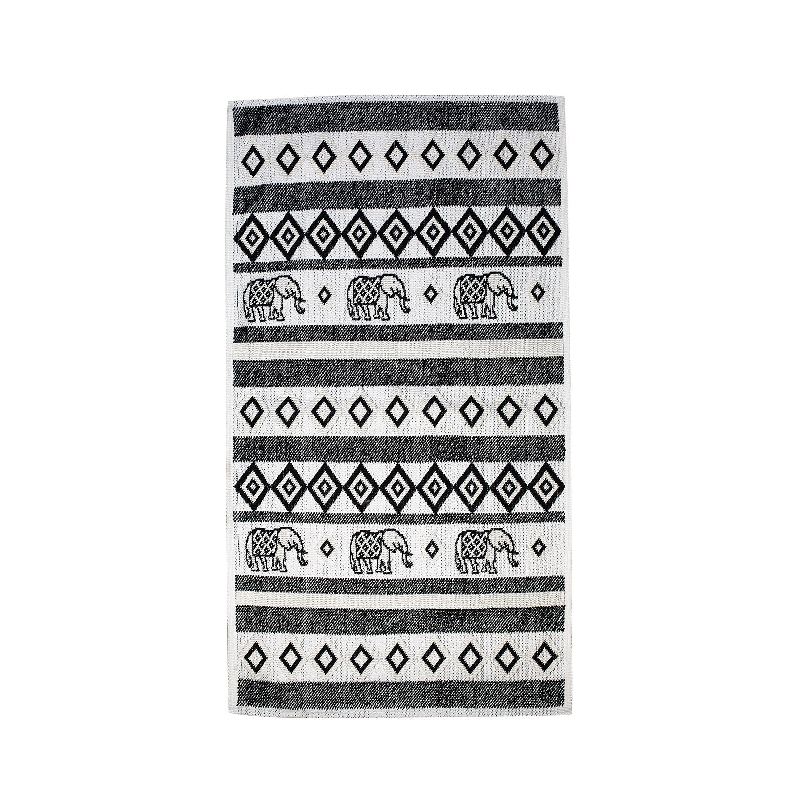 Karaca Home Marodisa 80x150 cm Ekru/Siyah Kilim
