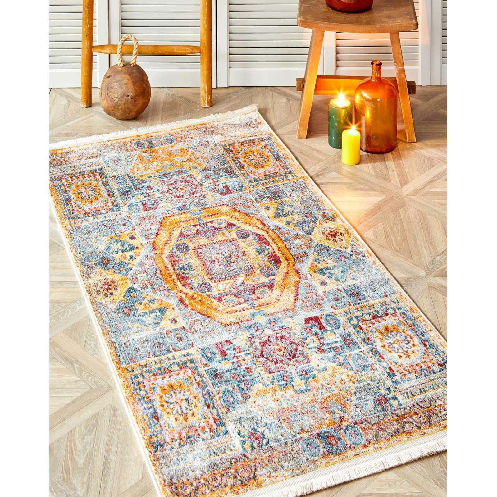 Karaca Home Gordion Turkuaz 80 cm x 150 cm Halı