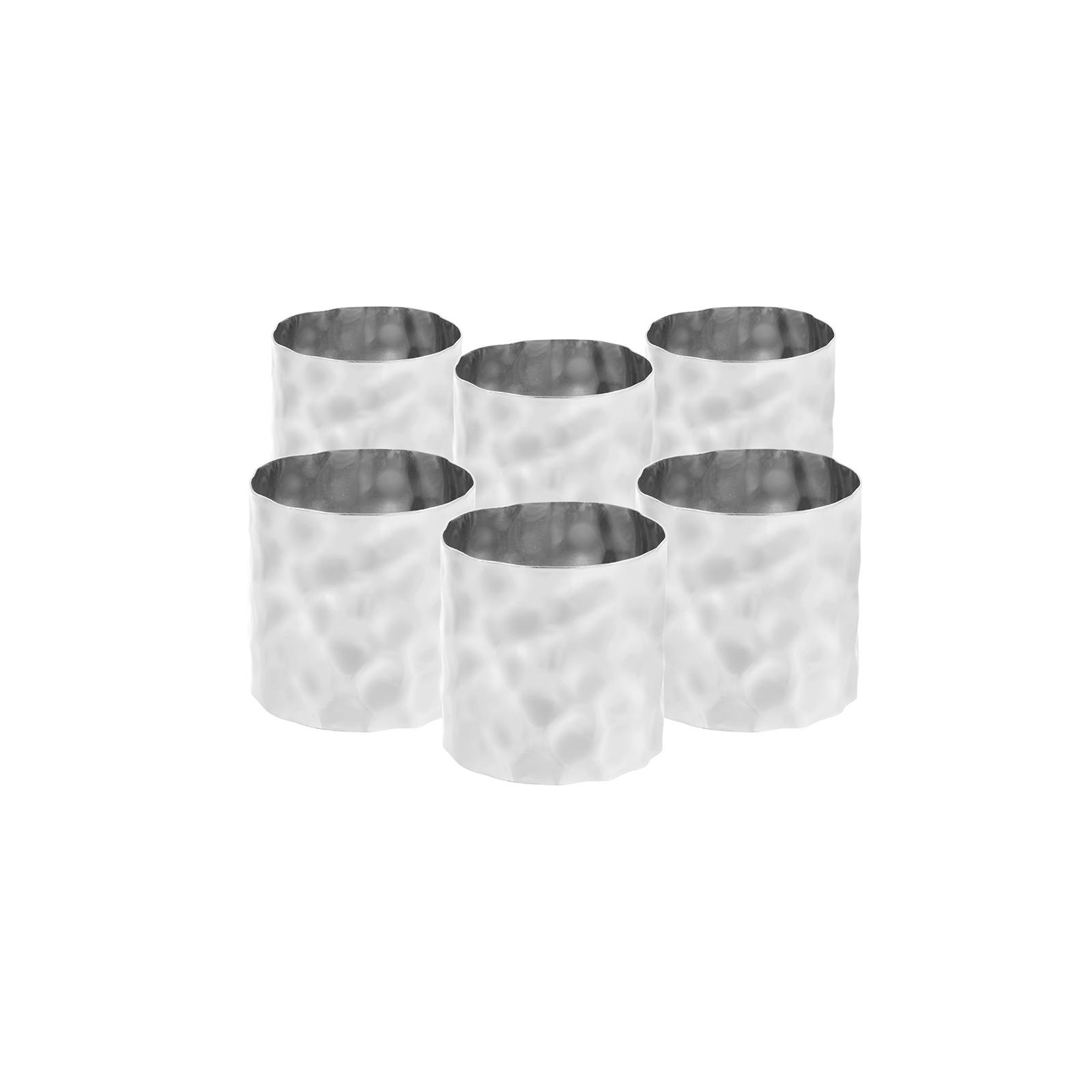 Karaca Home Moroc Peçete Yüzüğü 6'lı Rose Gümüş 4cm