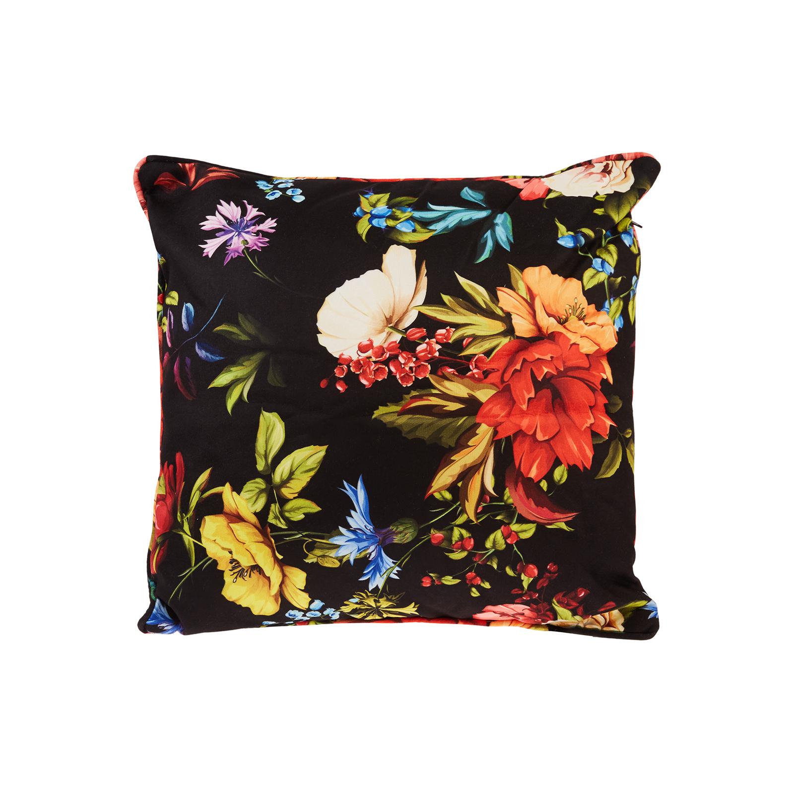 Karaca Home Floral Siyah Dekoratif Yastık 45x45cm