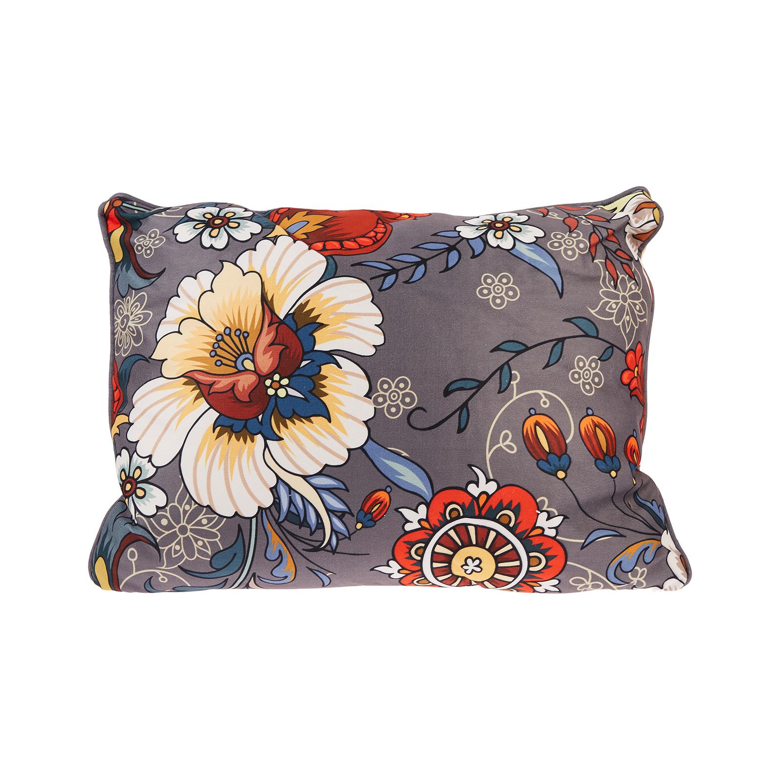 Karaca Home Floral Gri Dekoratif Yastık 45x45cm