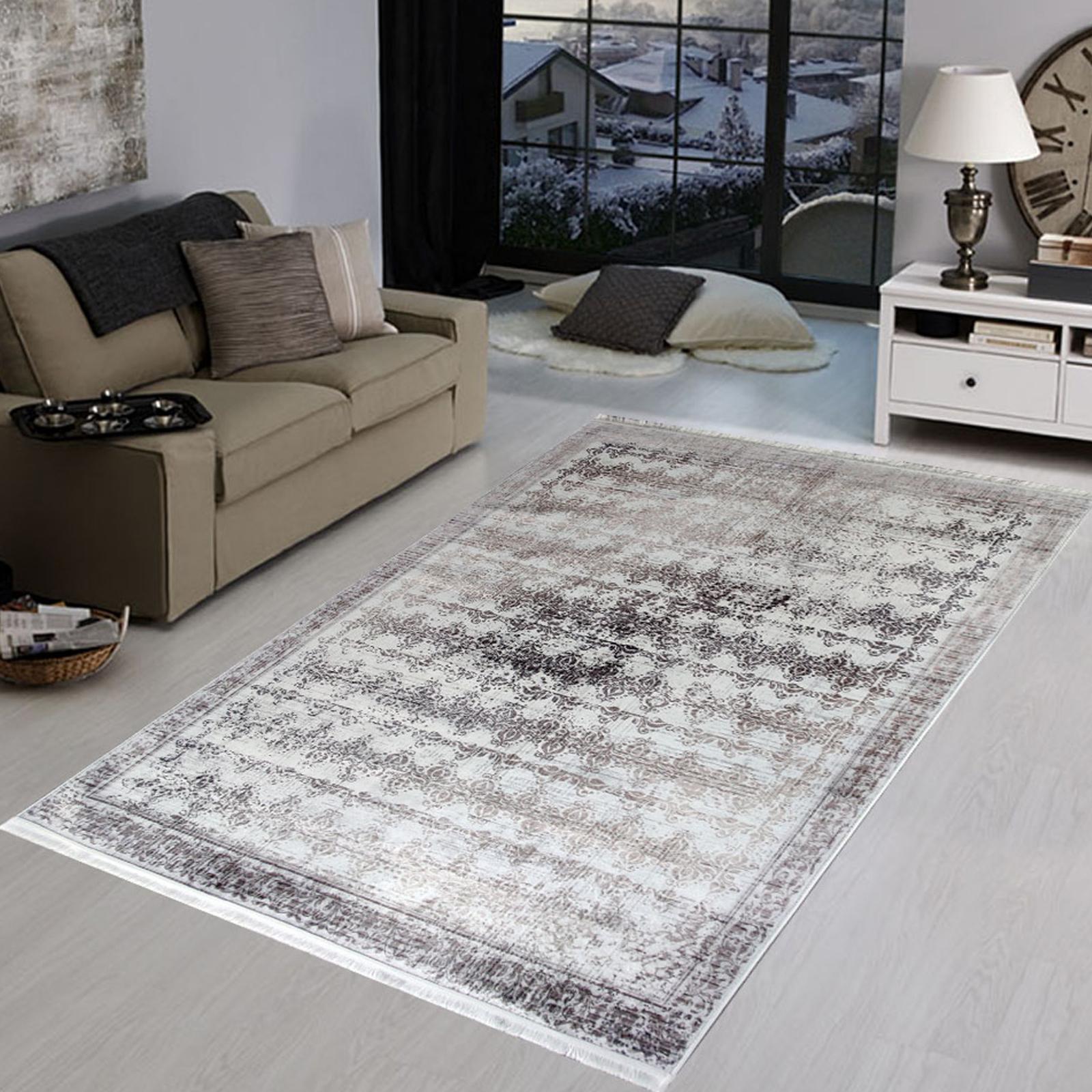 Karaca Home Modern Alisa Gri Halı 160x230cm