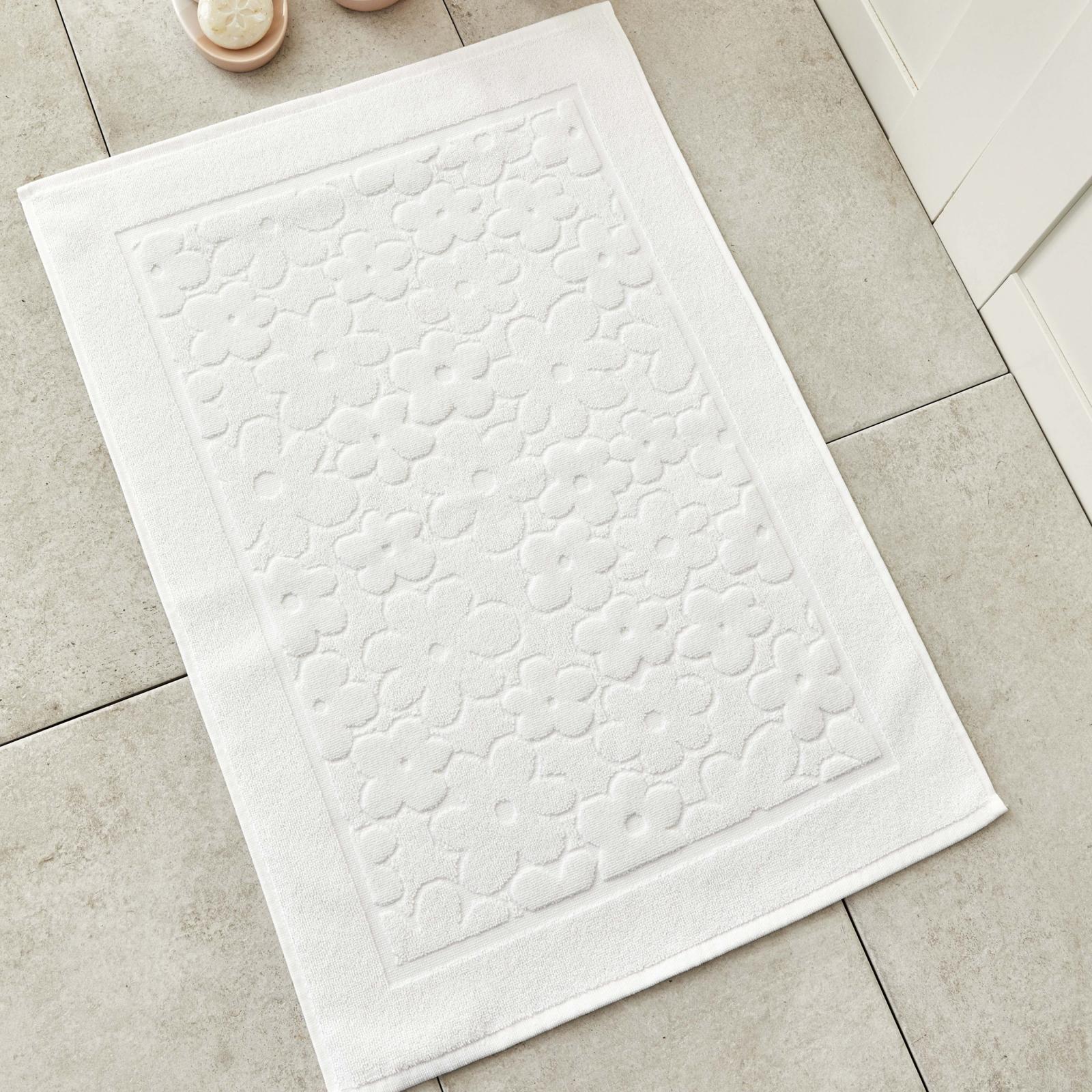 Karaca Home Daisy Beyaz Ayak Havlusu 50x70 cm