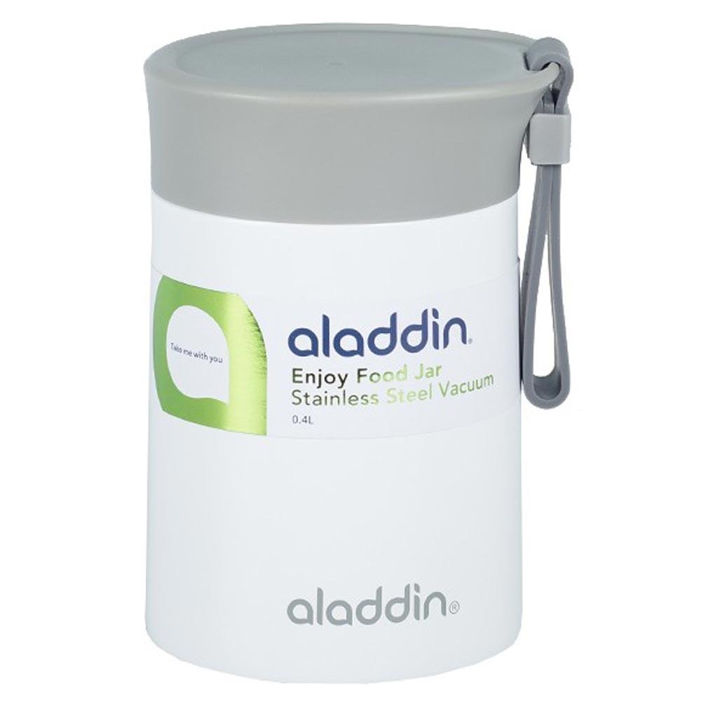 Aladdin Enjoy Beyaz Paslanmaz Çelik Yemek Termosu 0,40 Lt