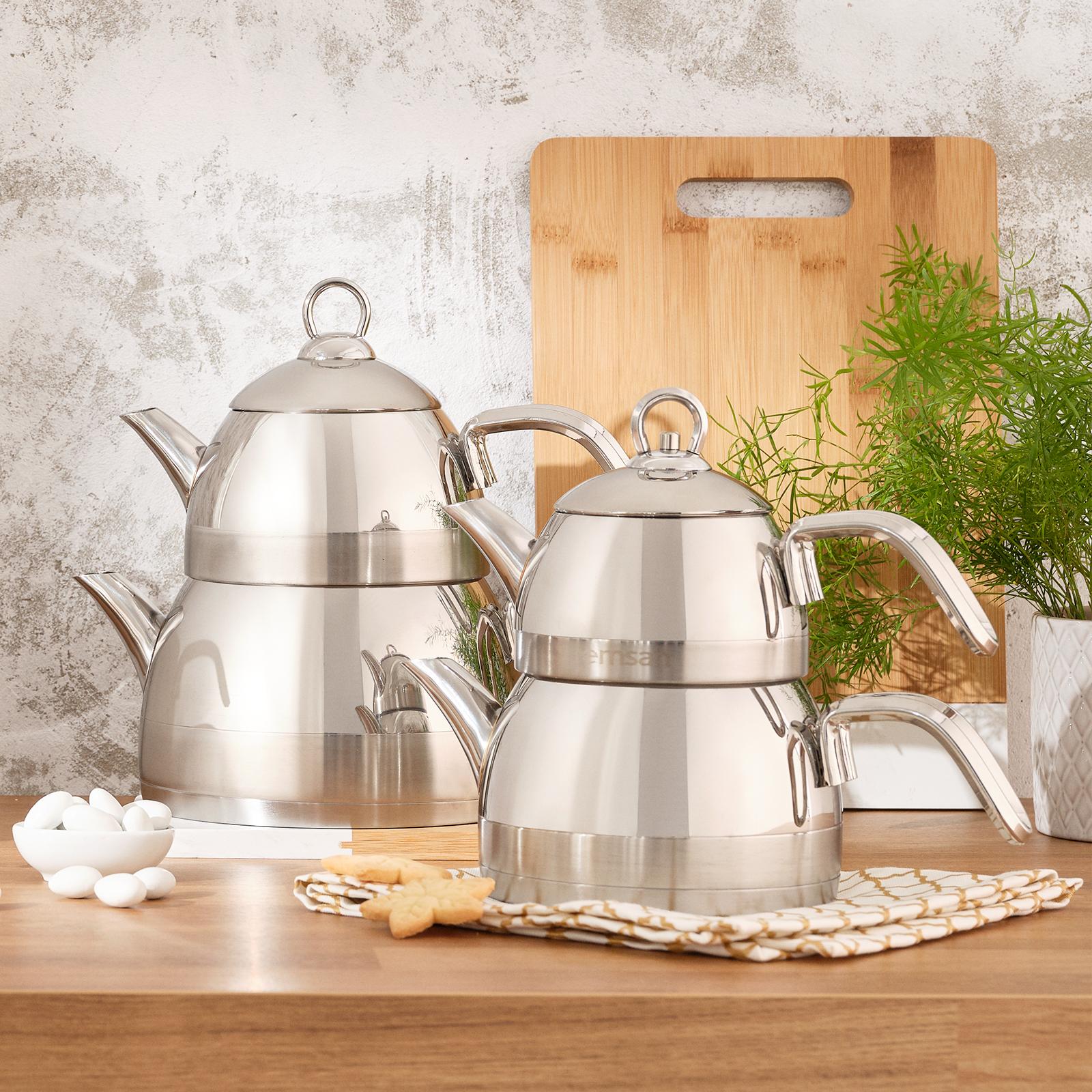Emsan Aragon İndüksiyon Tabanlı Paslanmaz Çelik Çaydanlık