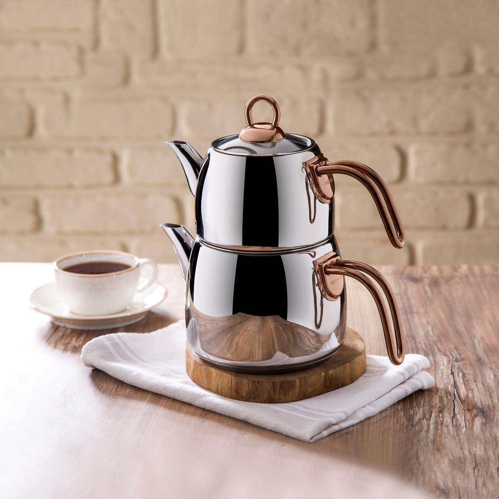 Emsan Teatanyum Maxi İndüksiyon Tabanlı Çaydanlık Takımı