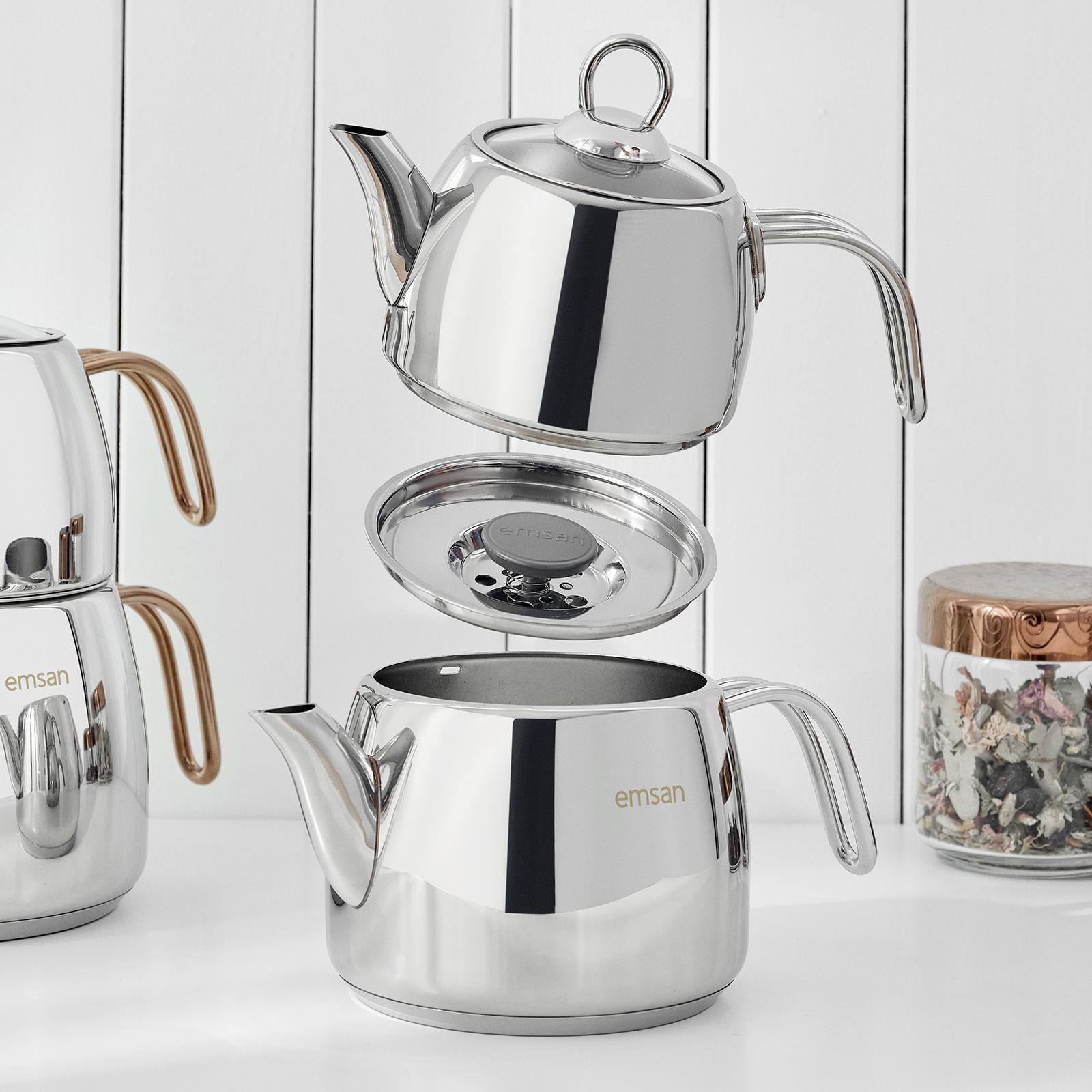 Emsan Soft (L) İndüksiyon Tabanlı Çaydanlık Takımı