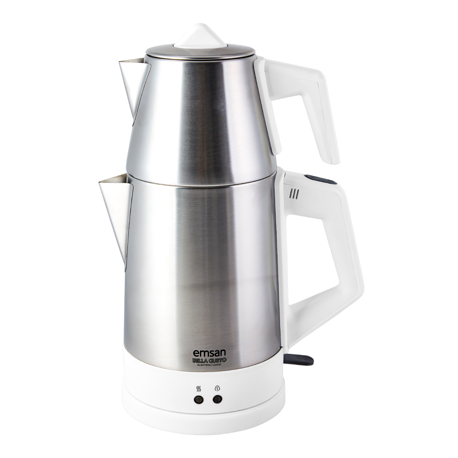 Emsan Bella Gusto Susuz Çalışma Emniyetli Elektrikli Çay Makinesi Beyaz