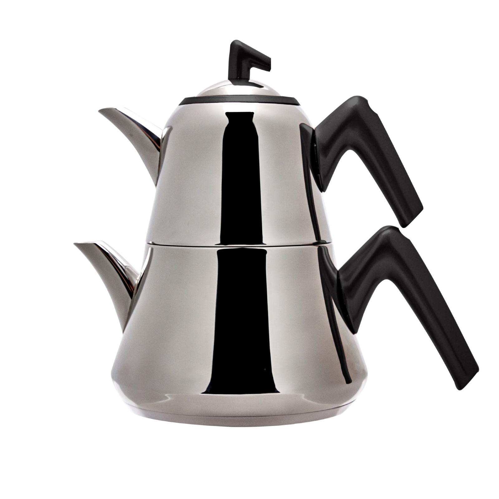 Emsan Harika İndüksiyon Tabanlı Çaydanlık Takımı Soft Siyah