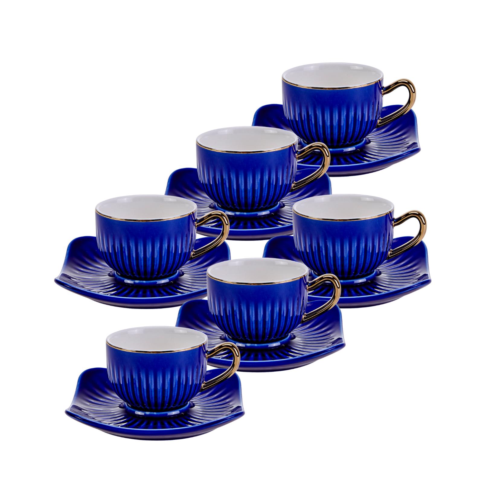 Emsan Nasip Mavi 6 Kişilik Kahve Fincan Takımı