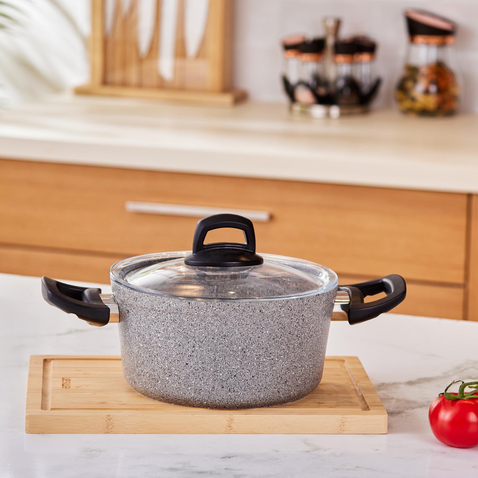 Emsan Durable 24 Cm Granit  Tencere