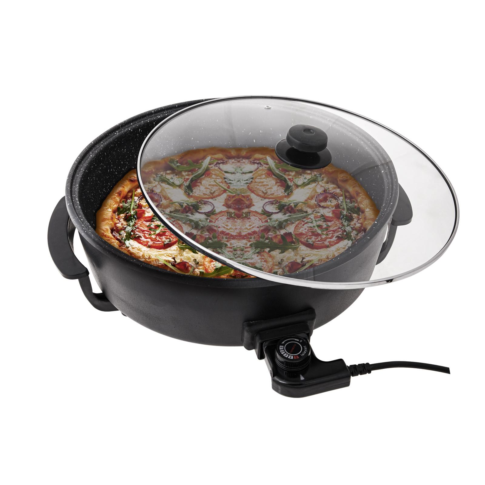 Emsan Magic Chef Siyah Çok Amaçlı Pişirici Pizza Tavası