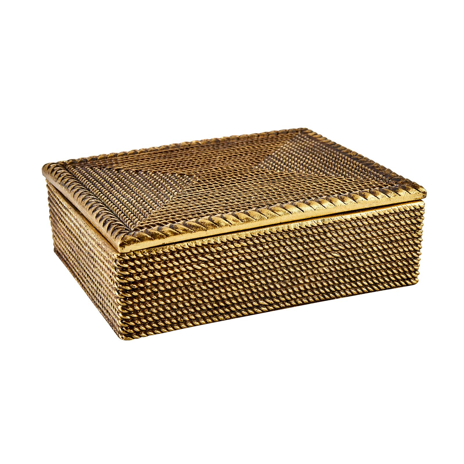 Karaca Eva Kutu Gold Dikdörtgen