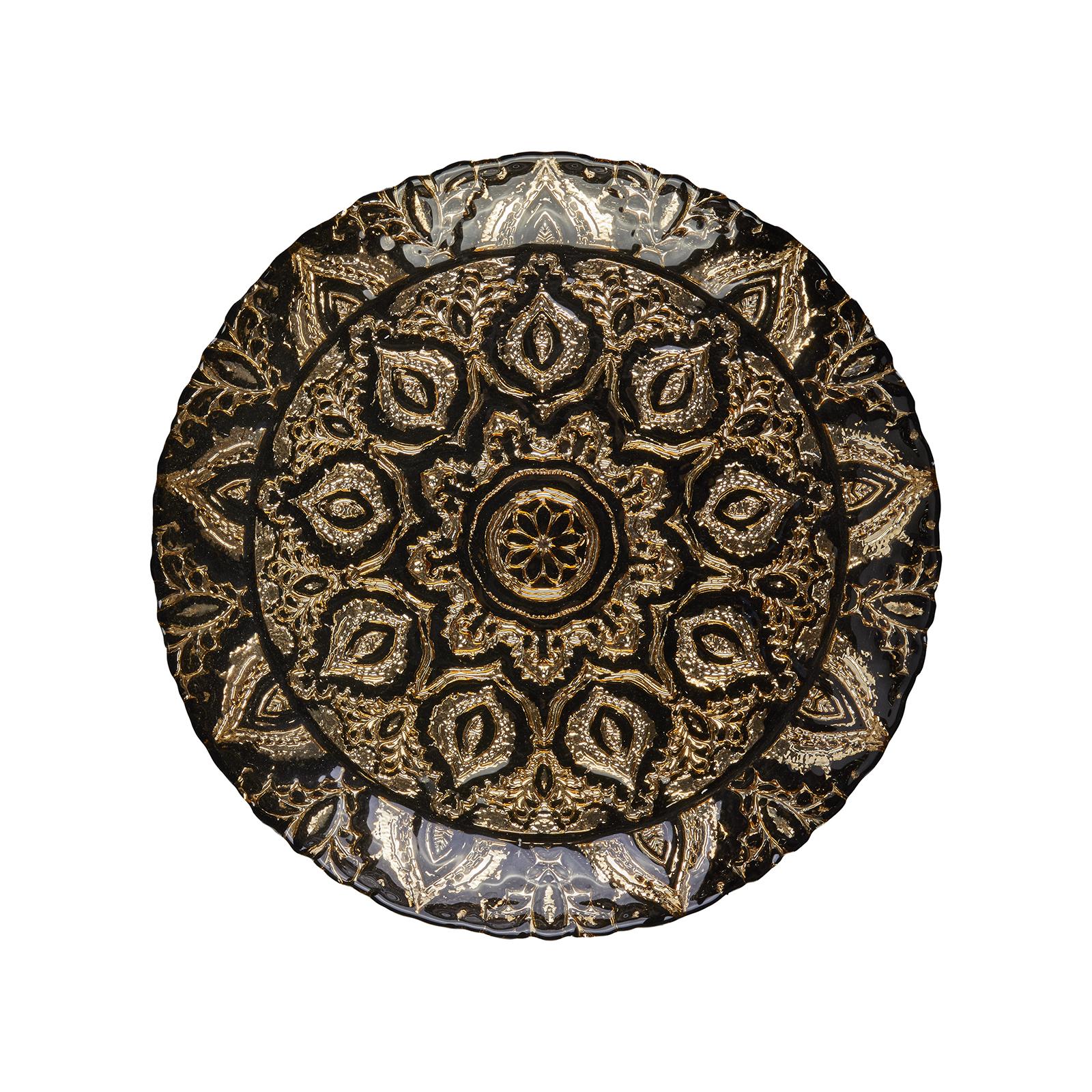 Karaca Anaıs Dekoratif Tepsi 40 cm Siyah