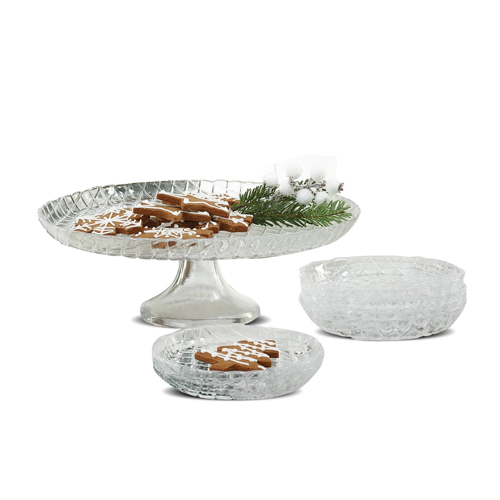 Karaca Lozange 7 Parça Tatlı Kutu/Pasta Takımı