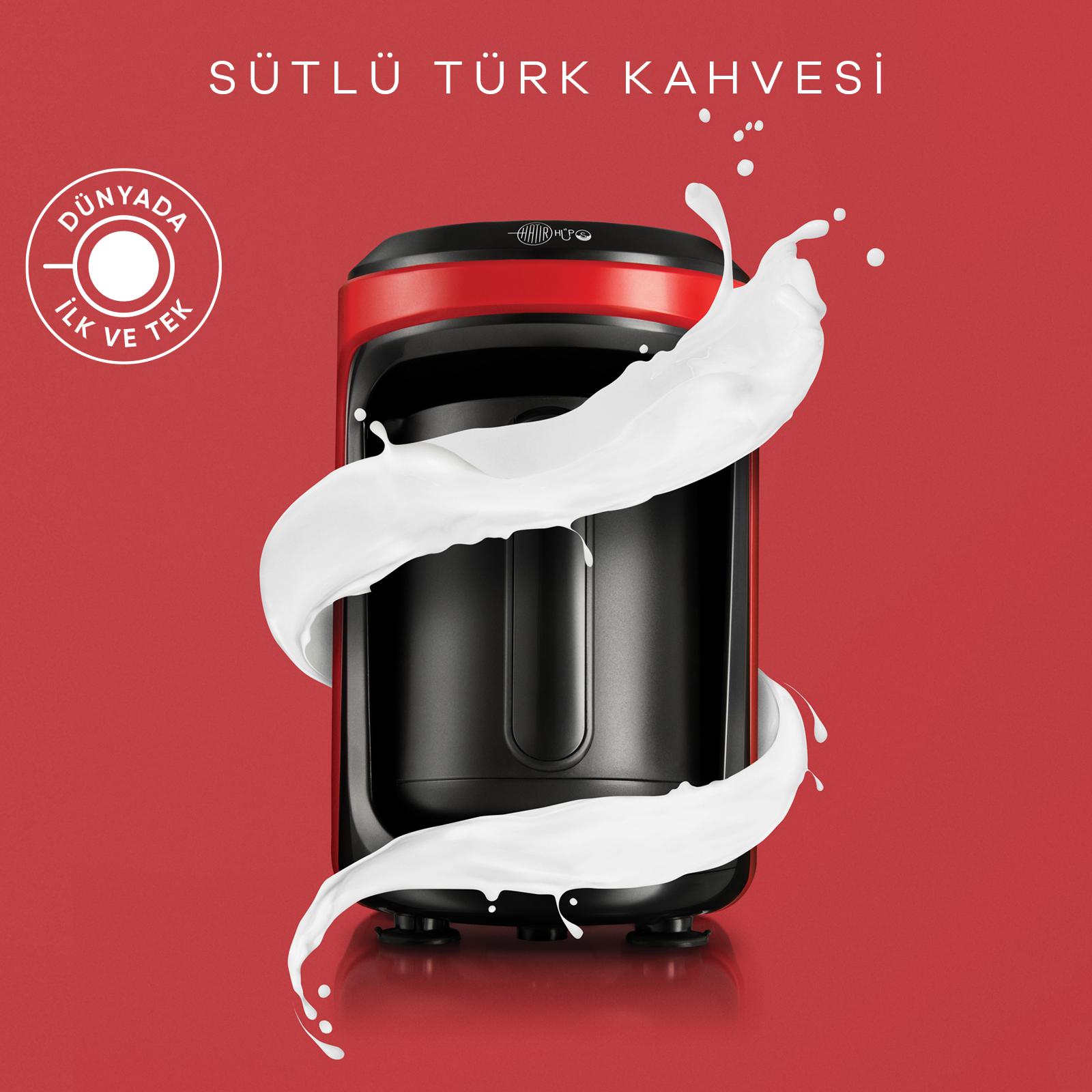 Karaca Hatır Hüps Sütlü Türk Kahve Makinesi Kırmızı