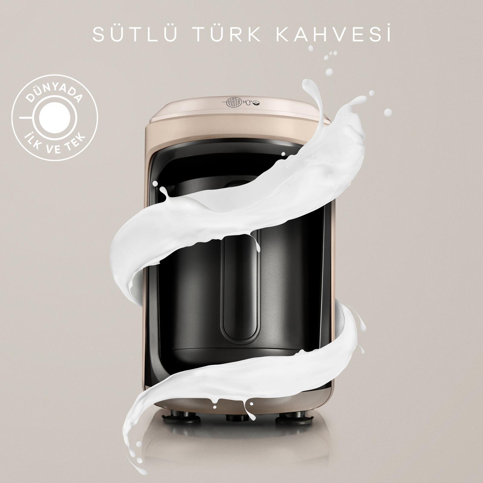 Karaca Hatır Hüps Sütlü Türk Kahve Makinesi Bej
