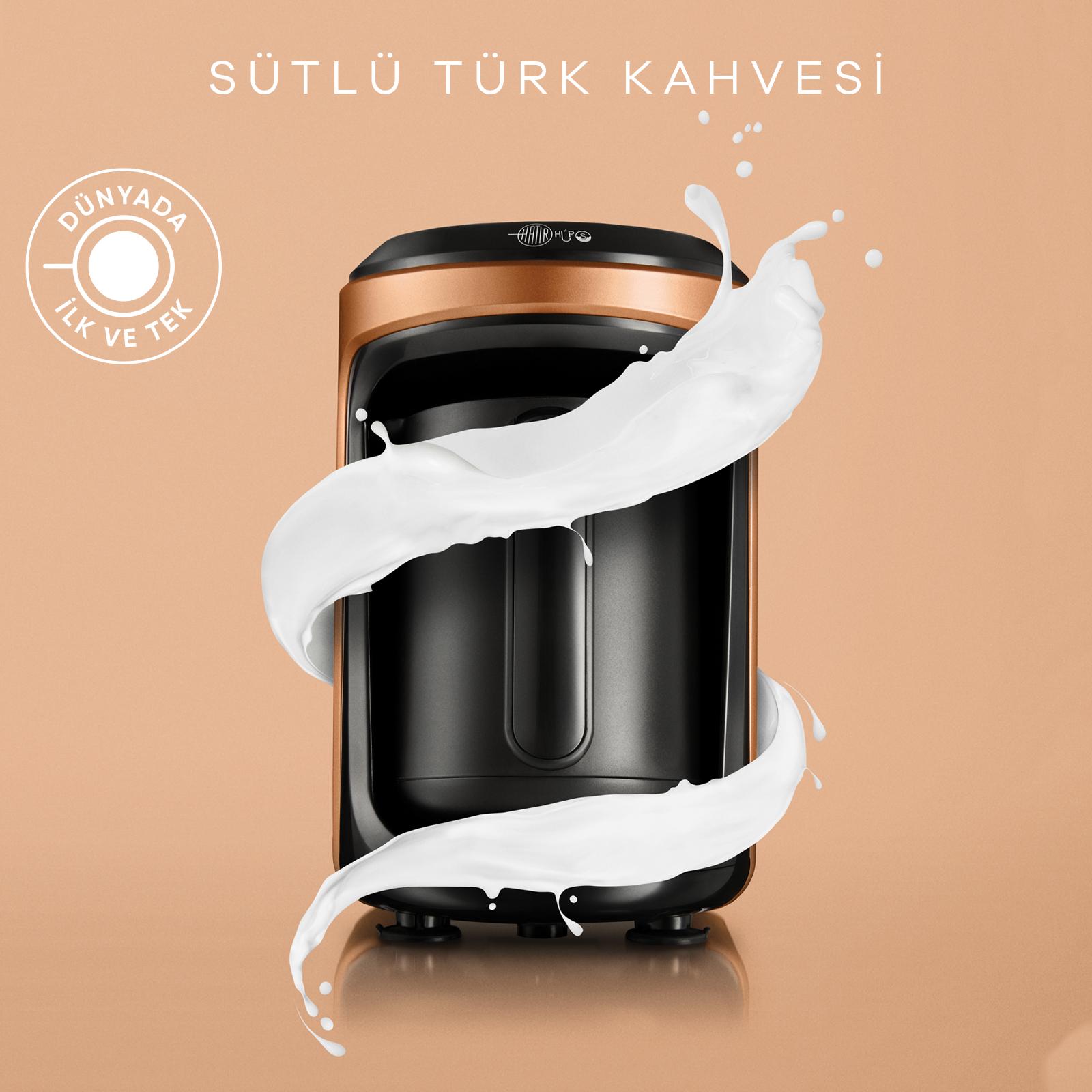 Karaca Hatır Hüps Sütlü Türk Kahve Makinesi Bronz