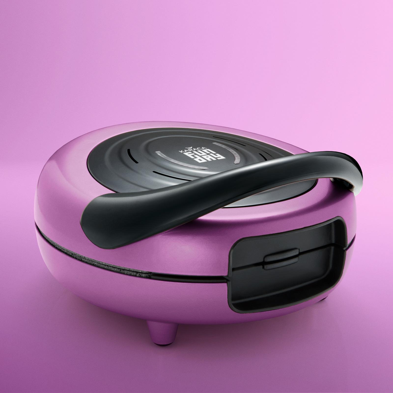 Karaca Funday Glossy Violet Waffle Makinesi 1000W