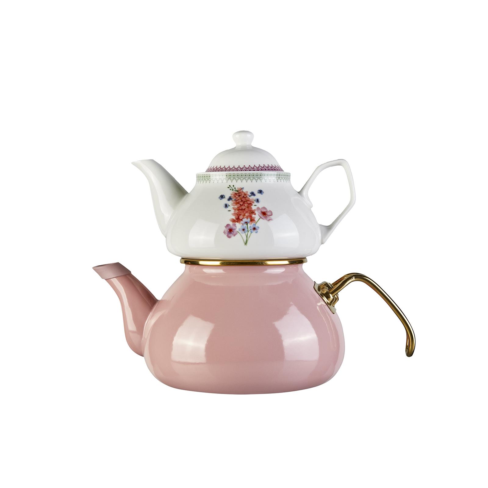 Karaca Bouquet Çaydanlık Takımı
