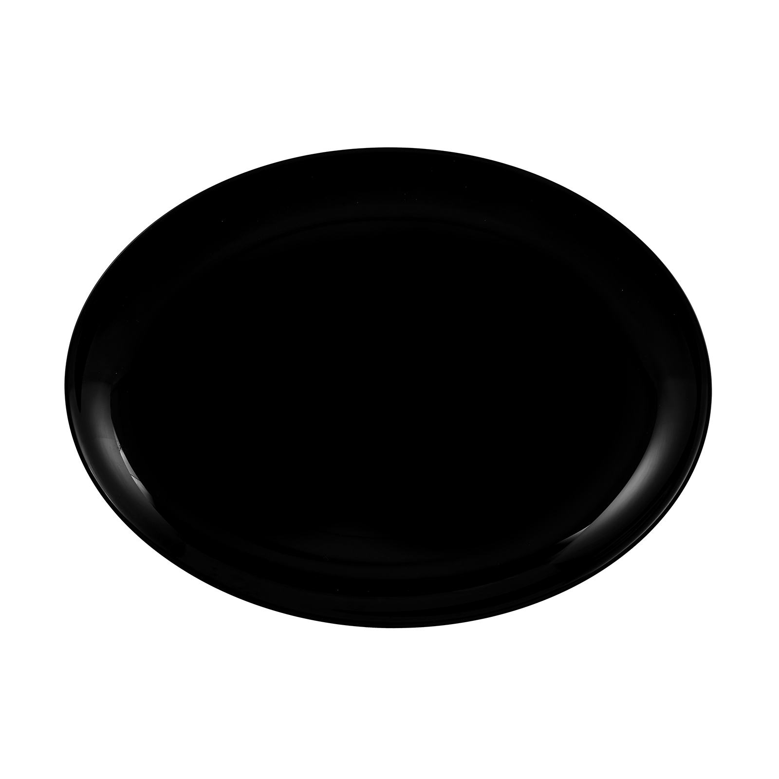 Karaca Black Swan Kayık Tabak 33x25 cm