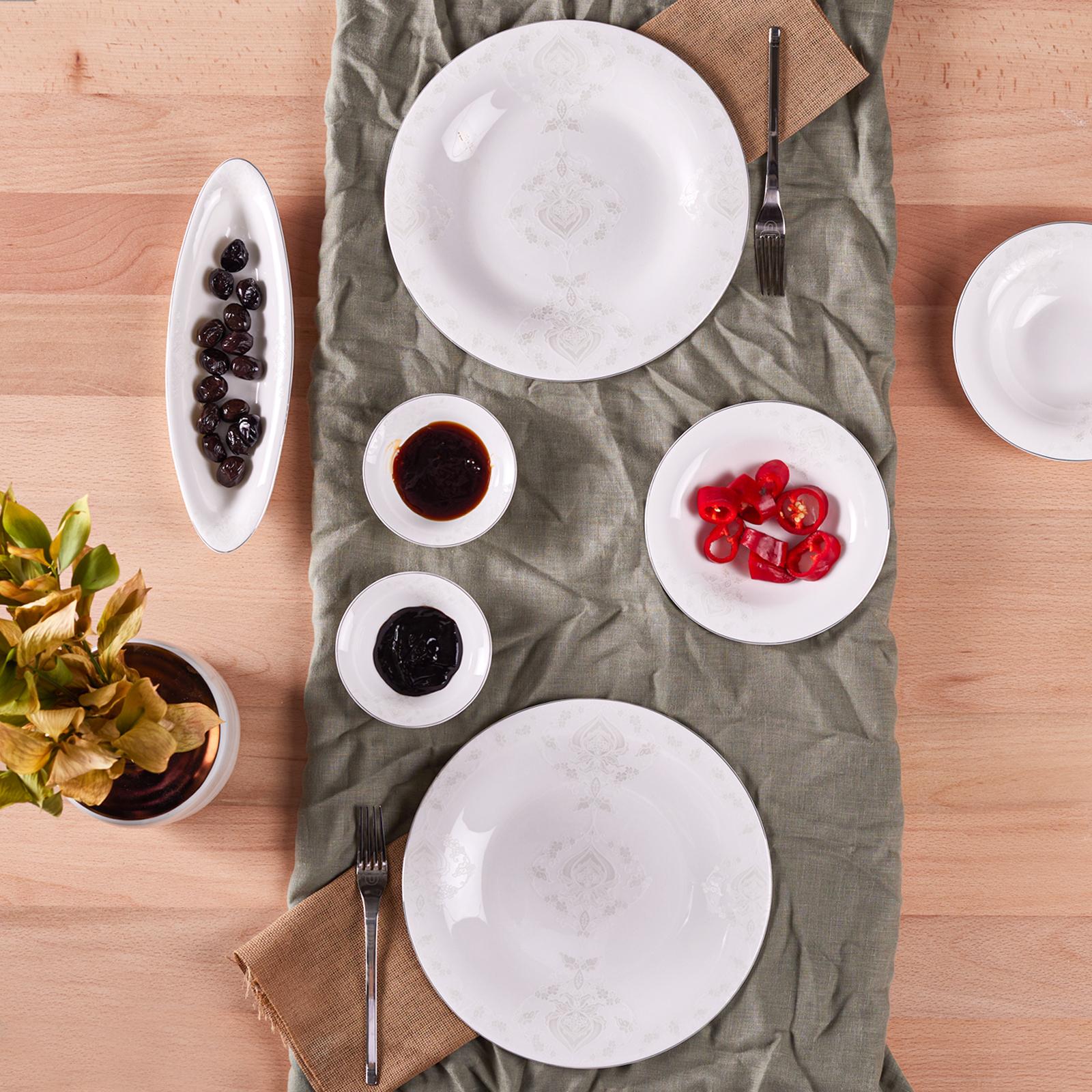 Karaca Fine Pearl Bella 14 Parça 6 Kişilik İnci Kahvaltı Takımı