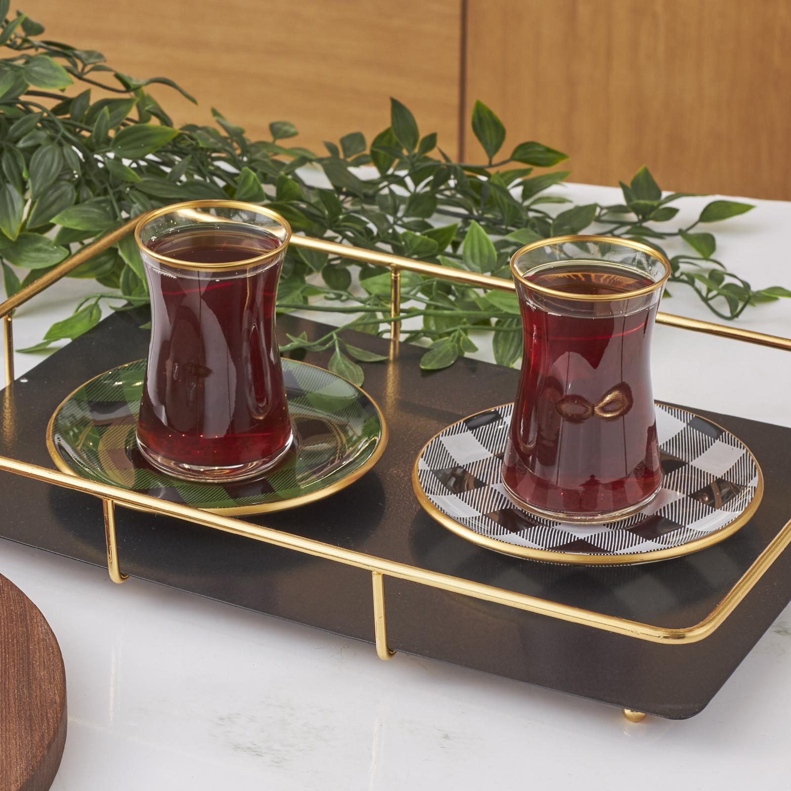 Karaca Ekose 6 Kişilik Çay Seti