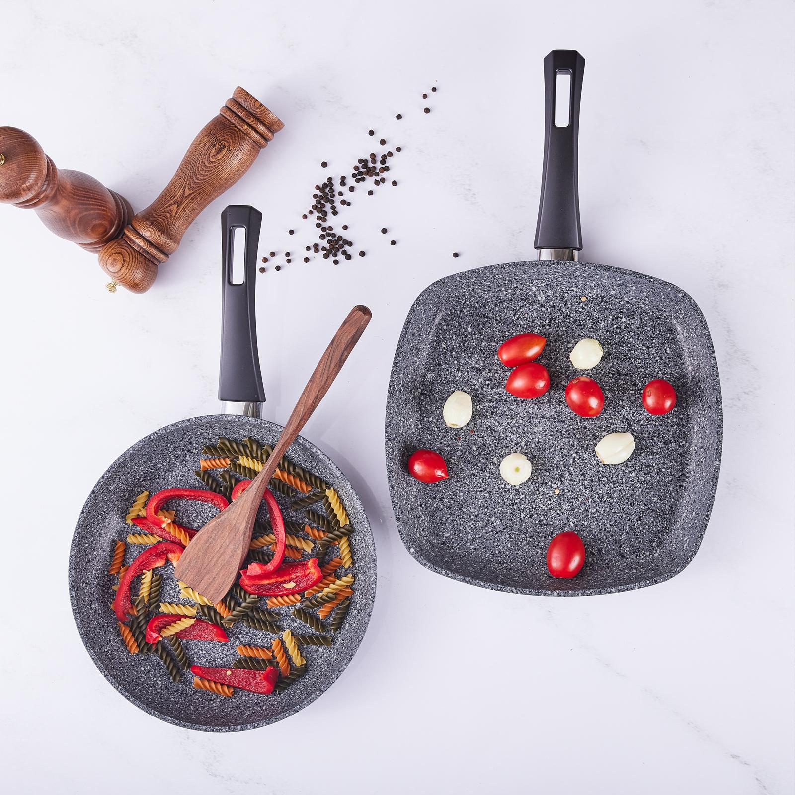 Karaca Azul Bio Granit Antbakteriyel Grill+Tava Set