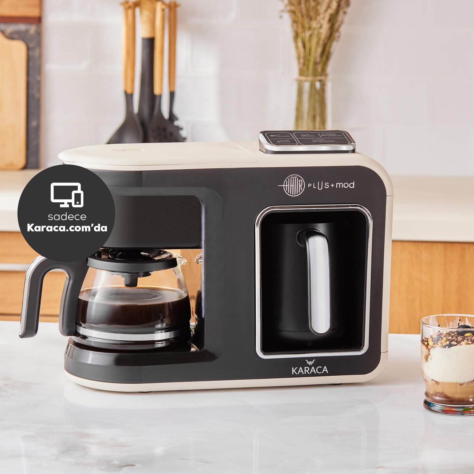 Karaca Hatır Plus Mod 5 in 1 Kahve Ve Çay Makinesi Krem
