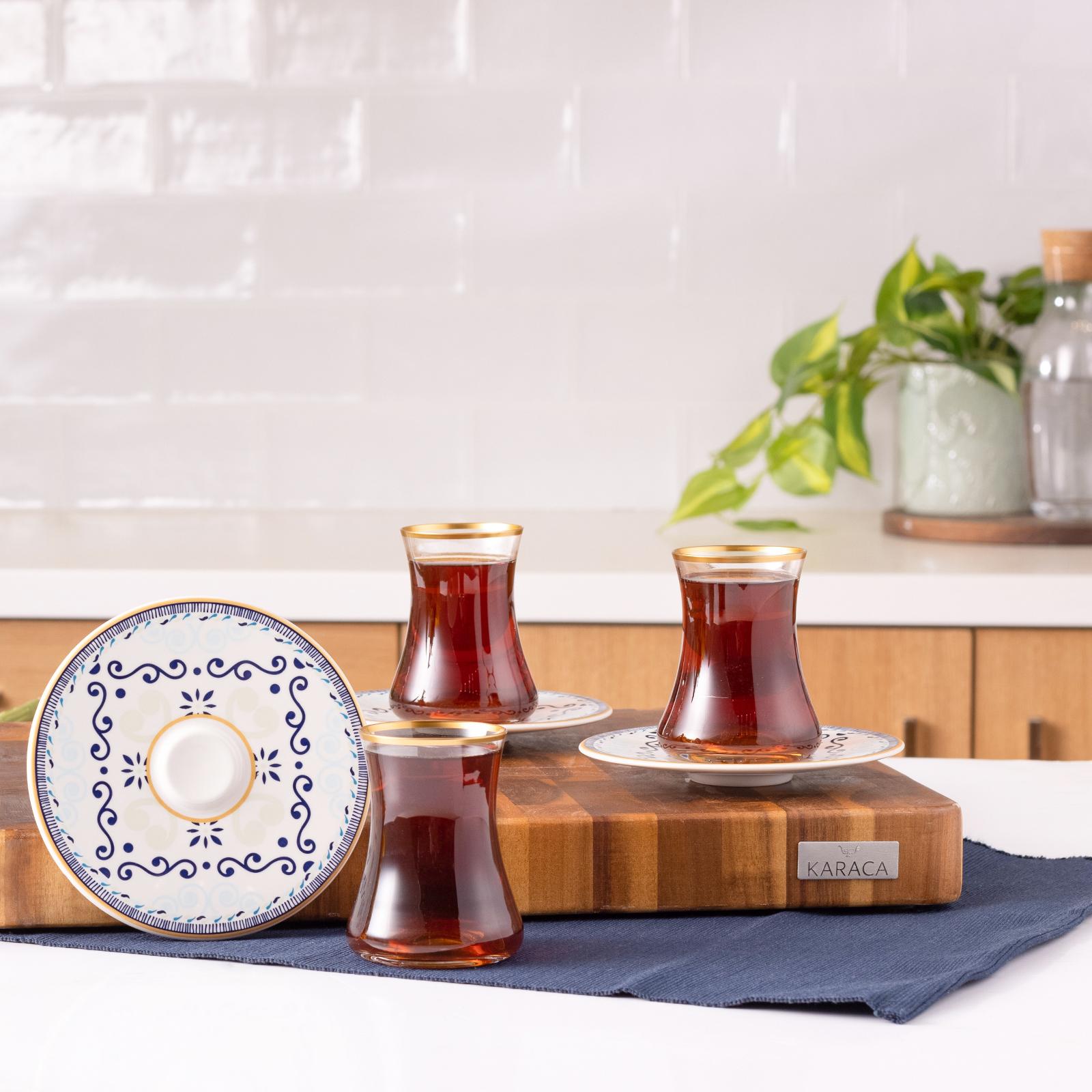 Karaca Akdeniz 12 Parça 6 Kişilik Çay Seti