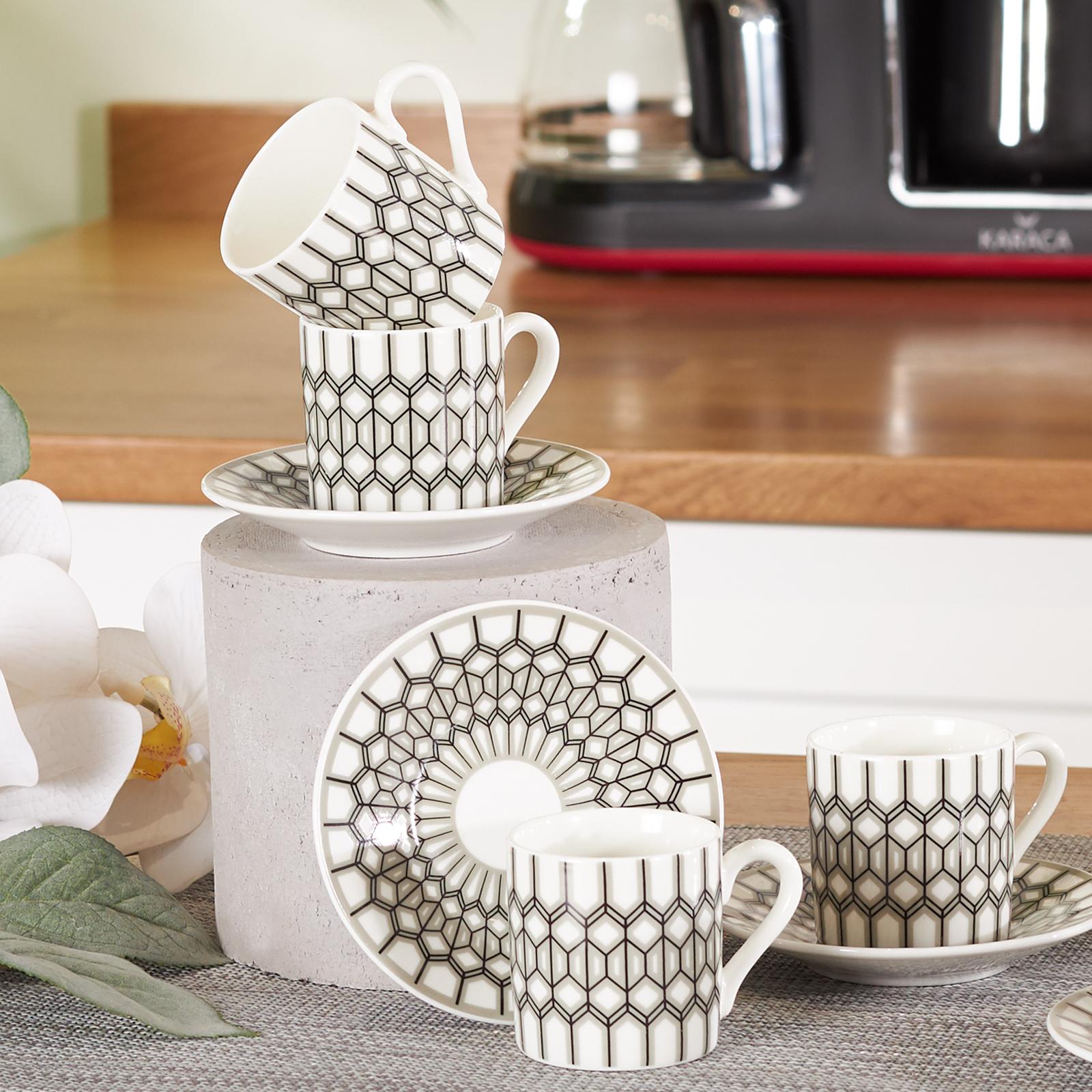 Karaca Glamour 6 Kişilik Kahve Fincanı Takımı