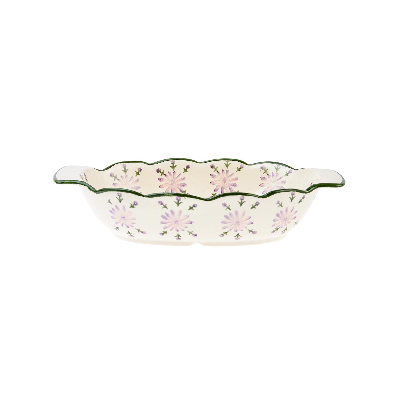 Karaca Flowers Yeşil Fırın Kabı 21 cm