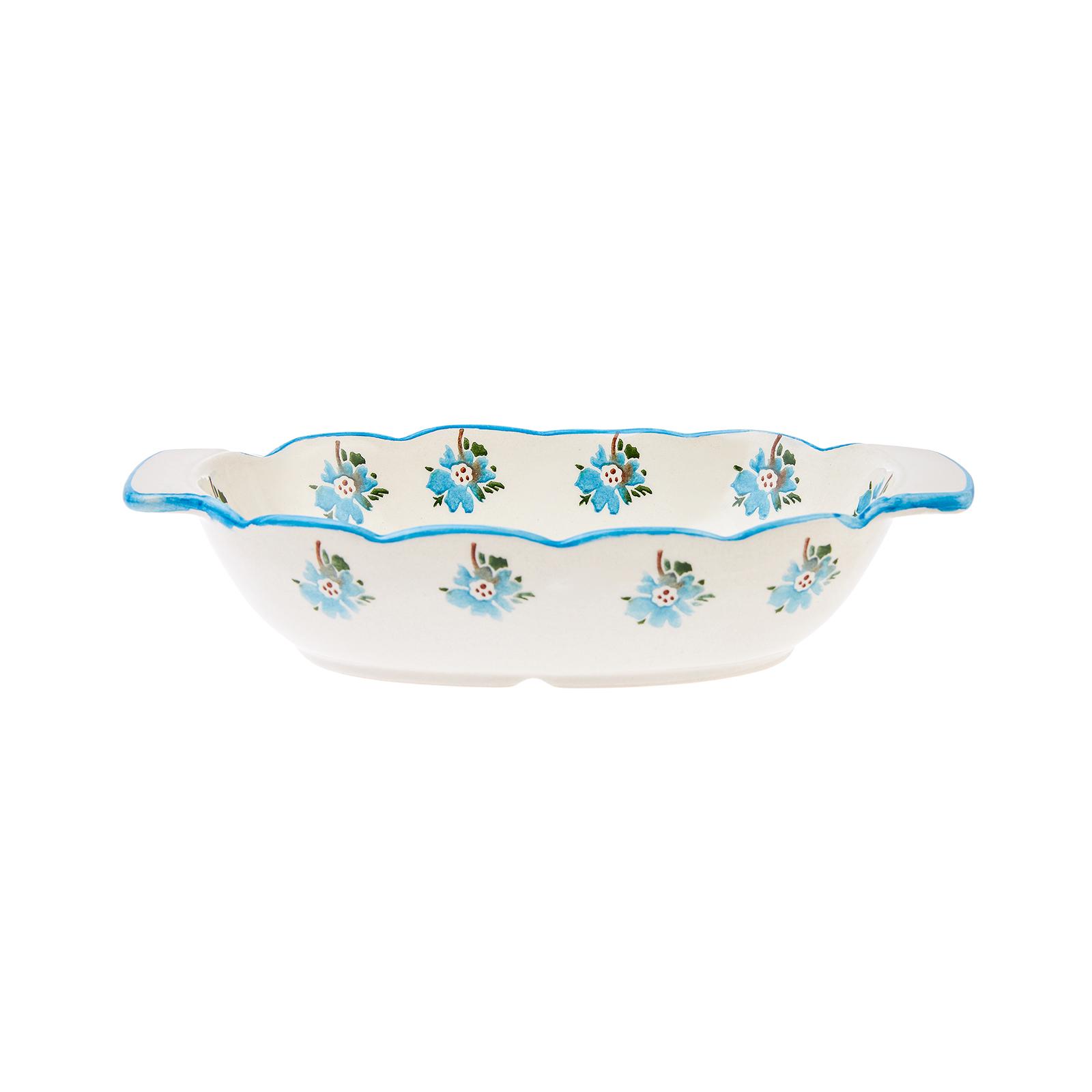 Karaca Flowers Mavi Fırın Kabı 21cm