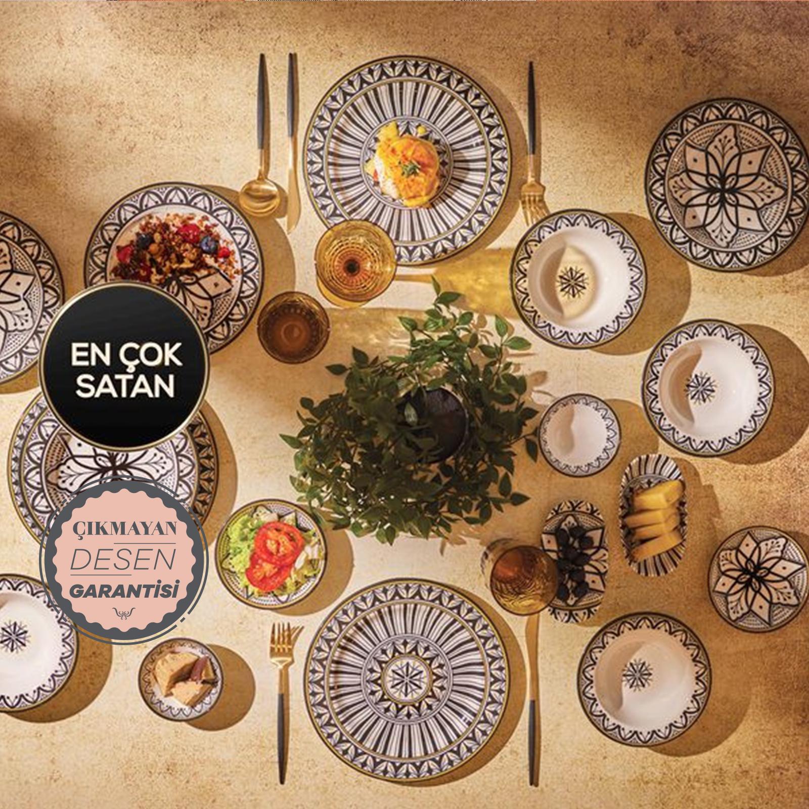 Karaca Bocelli 26 Parça 6 Kişilik Yemek ve Kahvaltı Takımı
