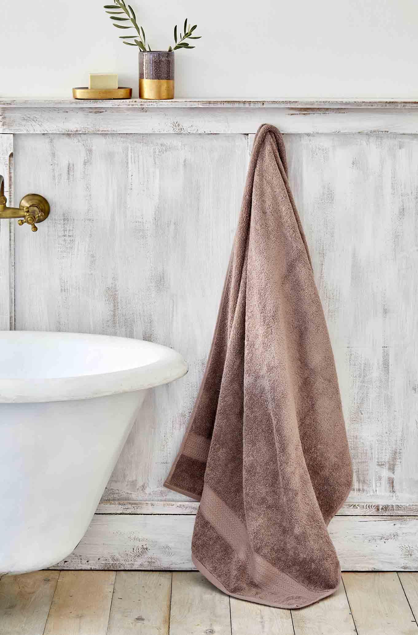 Karaca Home Charm Exclusive Açık Mürdüm 85x150 cm Banyo Havlusu