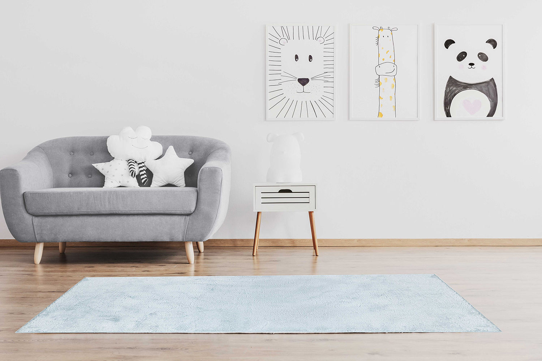 Karaca Home Fayed Mavi Shaggy Halı 80x150 cm