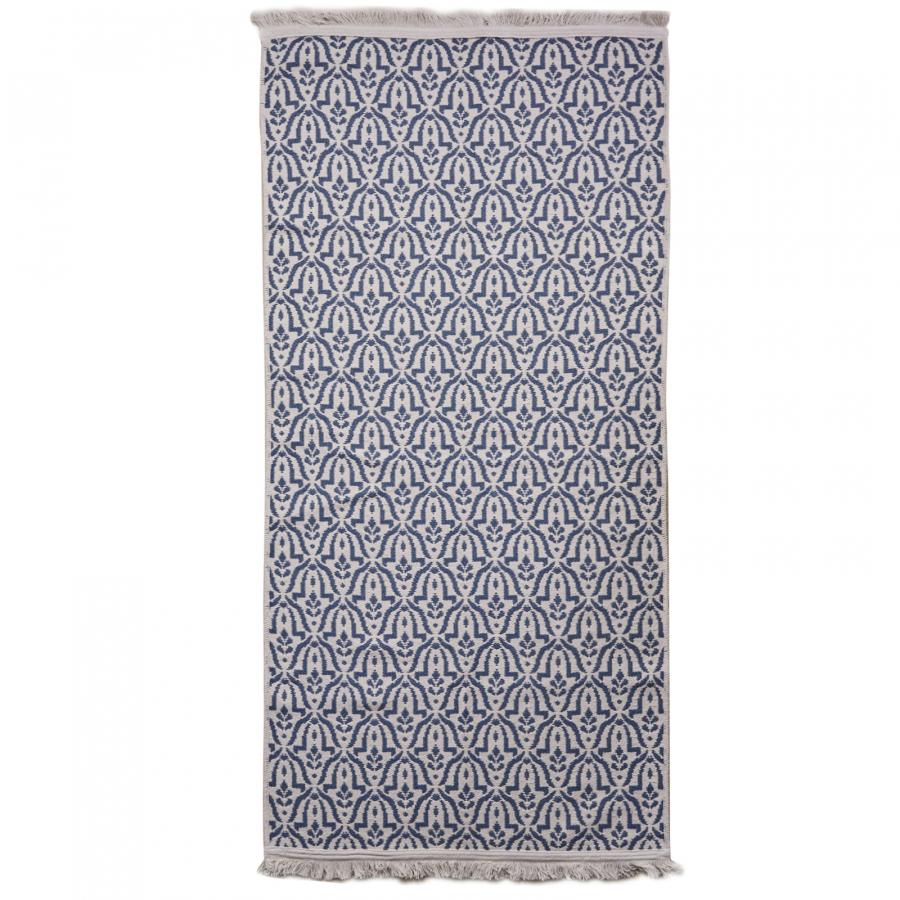 Karaca Home Morocco Ekru Lacivert Kilim 80x150 cm