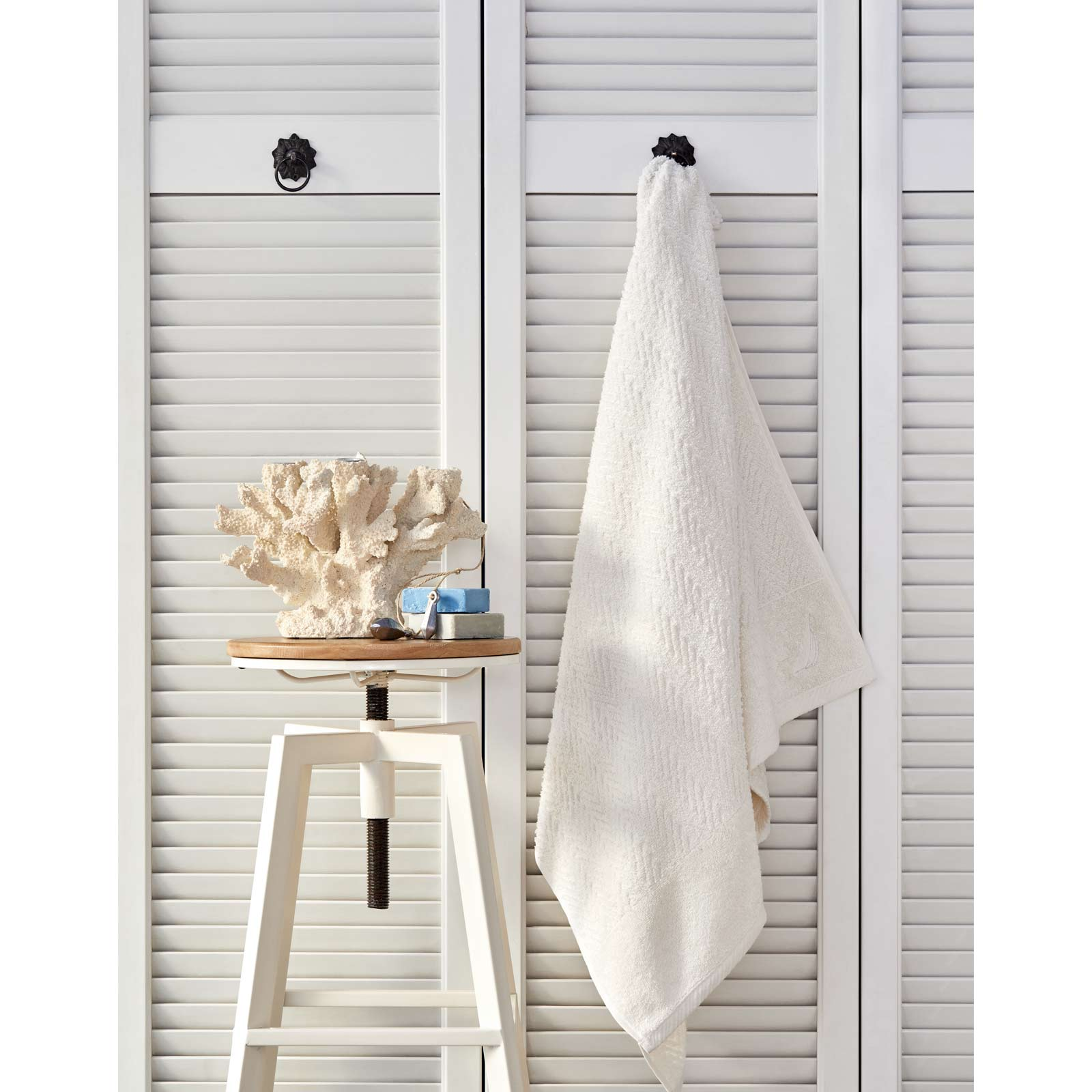 Nautica Home Zigzag 70x140 cm Beyaz Banyo Havlusu