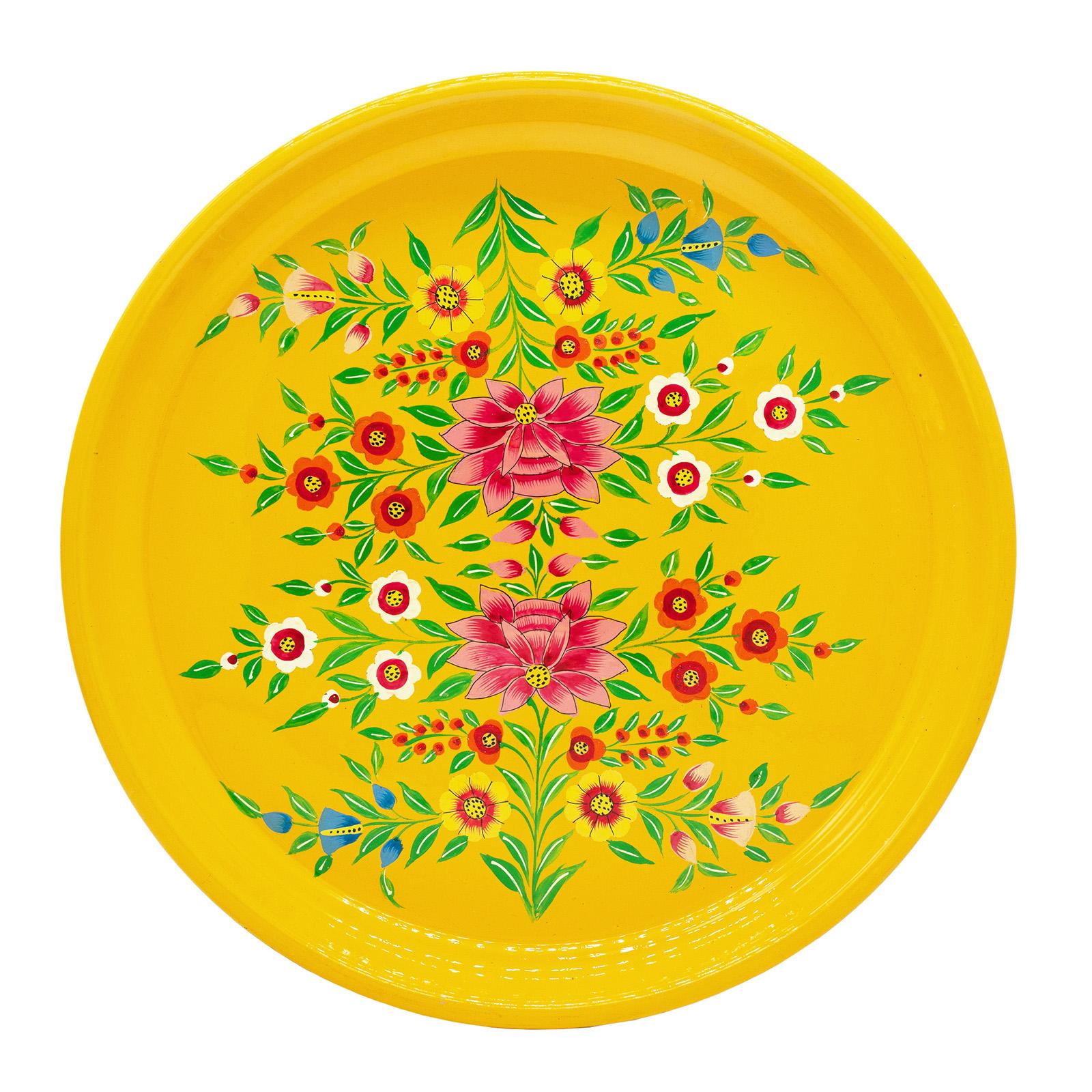3rd Culture 3rd-5063 Sarı Lotus Tepsi