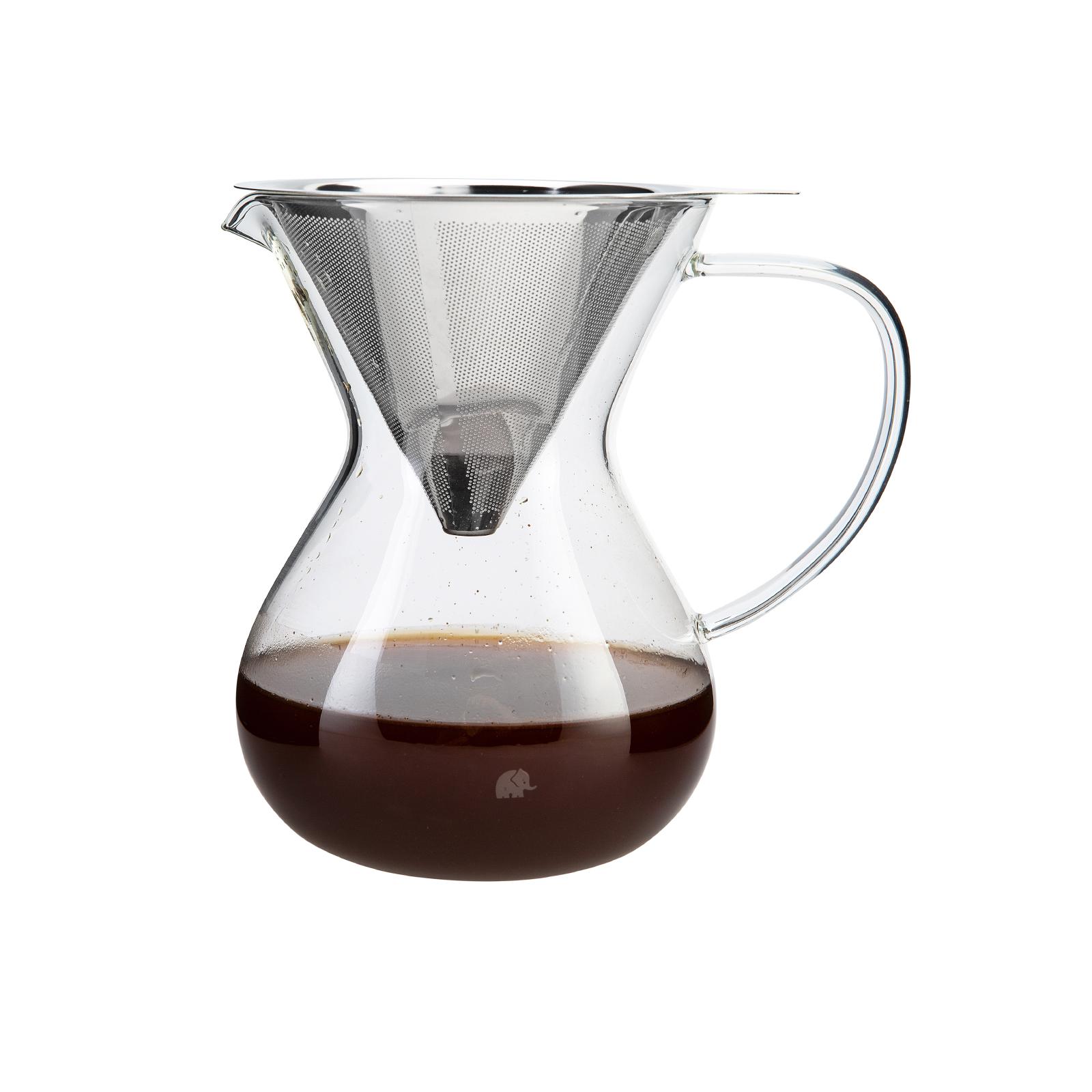 Jumbo Glory Cam Kahve Demleme Çelik Süzgeçli 850 Ml