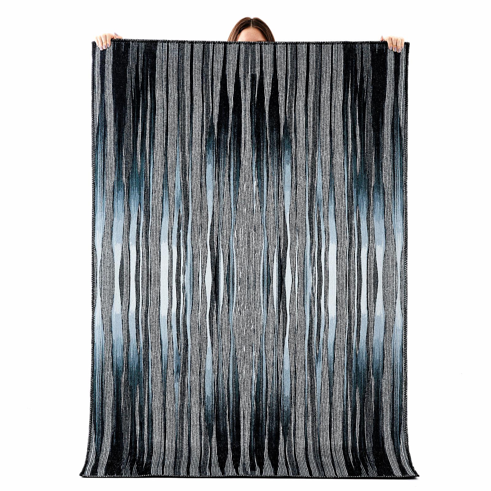 Kaşmir Halı Trend Black Line 160x230cm Halı