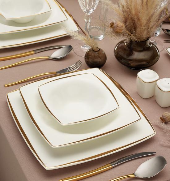 Karaca Fine Pearl Agate 62 Parça 12 Kişilik İnci Yemek Takımı