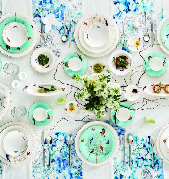 Karaca Fine Pearl Grace Mint 58 Parça 12 Kişilik İnci Yemek Takımı