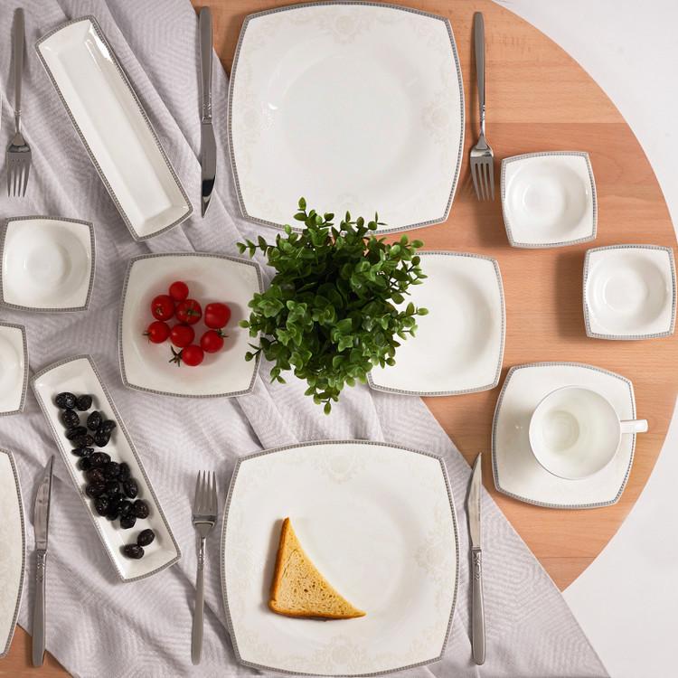 Karaca Fine Pearl Neklus 26 Parça 6 Kişilik Kare İnci Kahvaltı Takımı